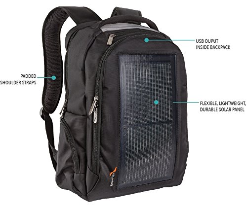 EnerPlex Packr Commuter Solar Powered Backpack (PRCOMMBK)