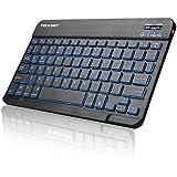 Backlit Bluetooth Keyboard, TeckNet Universal Ultra-Slim Portable Illuminated 7-Colors Adjustable Bluetooth Wireless Keyboard