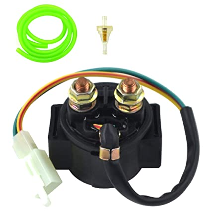 zzoy motorcycle starter solenoid relay fuel filter 1m fuel tube for  4-stroke gy6 engine