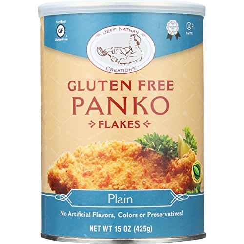 Jeff Nathan Creations Bread Crumbs - Panko Flakes - Plain - Gluten Free - 15 oz - case of 12 - - Gluten Free - From Israel by Jeff Nathan Creations