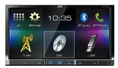 JVC KW-V41BT 7-Inch Double Din Car Stereo Receiver with SiriusXM Radio Ready Compatible with iDataLink Maestro (Best Price For Siriusxm)
