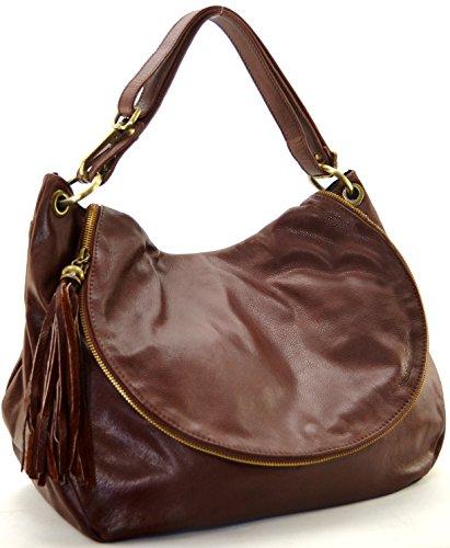 Cuir-Destock sac à main porté épaule bandoulière cuir souple (pleine peau) modèle bacall (gd modèle) - nouvelle collection 2018 MARRON MOYEN