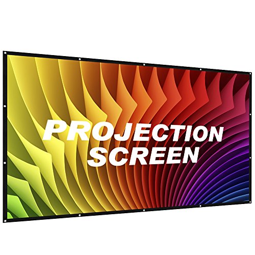 Portable Projection Screen 84 Inch- Indoor Outdoor Projector Movie Screen 16:9 with Carry Case- Lightweight Foldable Presentation Screen for Home Theater Outside & Sports Events by AZONE1