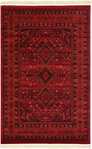 (Unique Loom Tekke Collection Tribal Traditional Torkaman Red Area Rug (4' 0 x 6' 0))