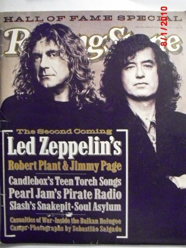 Rolling Pearl Stone Jam - ROLLING STONE MAGAZINE # 702---ROBERT PLANT/JIMMY PAGE ISSUE FEBRUARY 23RD, 1995