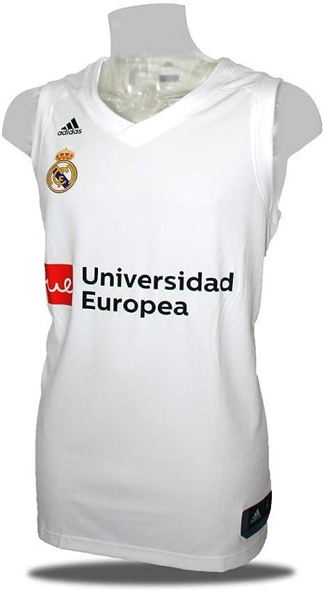 adidas Camiseta Baloncesto Real Madrid 18/19 Blanca (XXL): Amazon ...