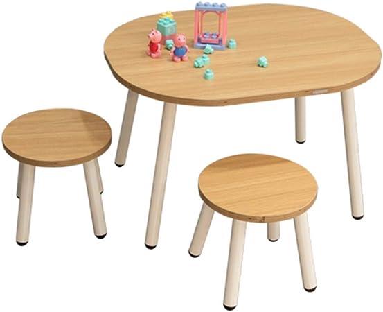 Juegos de mesas y sillas Mesa para Niños Mesa De Juego De Madera Maciza Mesa De