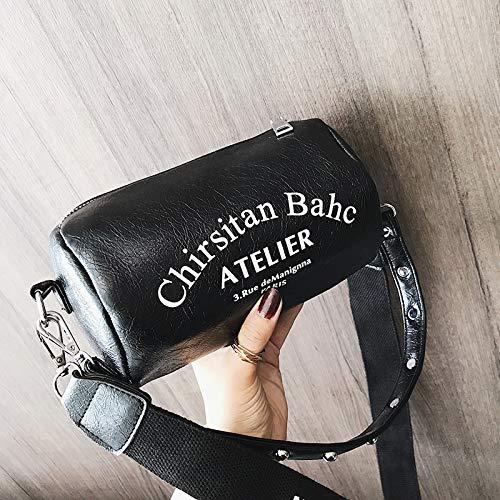 Femme Seau Mini Petit Sac Noir Sauvage marée Portable épaule WSLMHH Messenger Mode Sac FwtqxcER