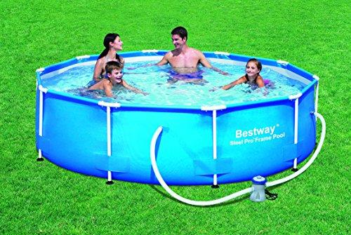 Bestway piscina redonda c hidr est met 305x76cm for Precio piscina bestway