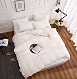 S Hotel Collection Luxury Brushed Microfiber 3 Pieces Baroque Duvet Cover Set, Includes 1 Comforter Cover 2 Pillow Shams