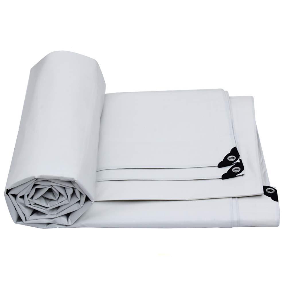 Plane Plane Wasserdichtes weißes Sonnenschutz-Sonnenschutzplanenblatt mit Ösen, 175g / ㎡