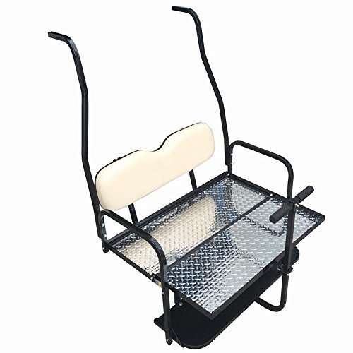 Club Car DS Golf Cart Rear Flip Back Seat Kit for 2000.5 - Up Factory Buff by Performance Plus Carts (Image #1)