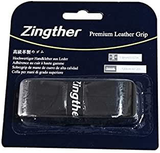 Zingther 2-Pack HiComfort Leather Replacement Grip Tape for Tennis Racquet/Badminton Racket/Golf Club/Cane/Pickleball Paddle - Soft, Tacky, Comfortable and Ultra Cushion (Pack of 2 Grips)