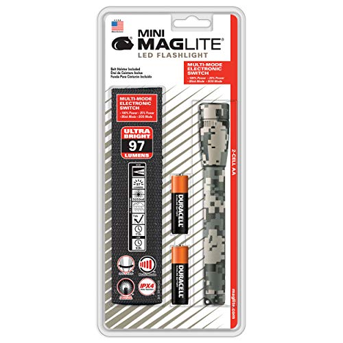 Maglite Mini LED 2-Cell AA Flashlight Universal Camo Pattern