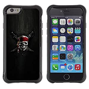 iKiki Tech / Estuche rígido - Skull Skeleton Pirate Symbol Sign Swords - Apple iPhone 6