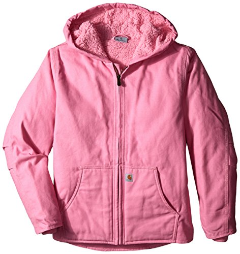 Carhartt Big Girls'  Redwood Jacket, Medium Pink, Small 7/8 -