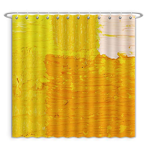 - Unique Custom Shower Curtains Abstract Wallpaper Texture Background Of Close Up Fragment Of Oil Painting On Canvas With Brush Polyester Fabric Shower Curtain For Bathroom, 66 x 72 Inches