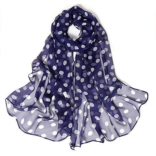 HYIRI Fashion Women's Dot Printing Long Soft Wrap Scarf Simulation Silk Shawl Scarves Good Quality - Cathedral Thermal Vest