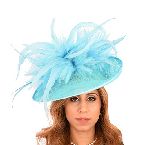 Hats By Cressida Gorgeous Ladies Ascot Kentucky Derby Wedding Fascinator Hat Hot Turquoise by Hats By Cressida