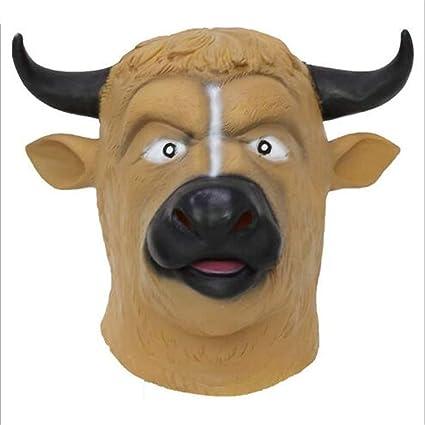 MC-BLL-mask Máscara Divertida de Halloween máscara de Vaca Realista