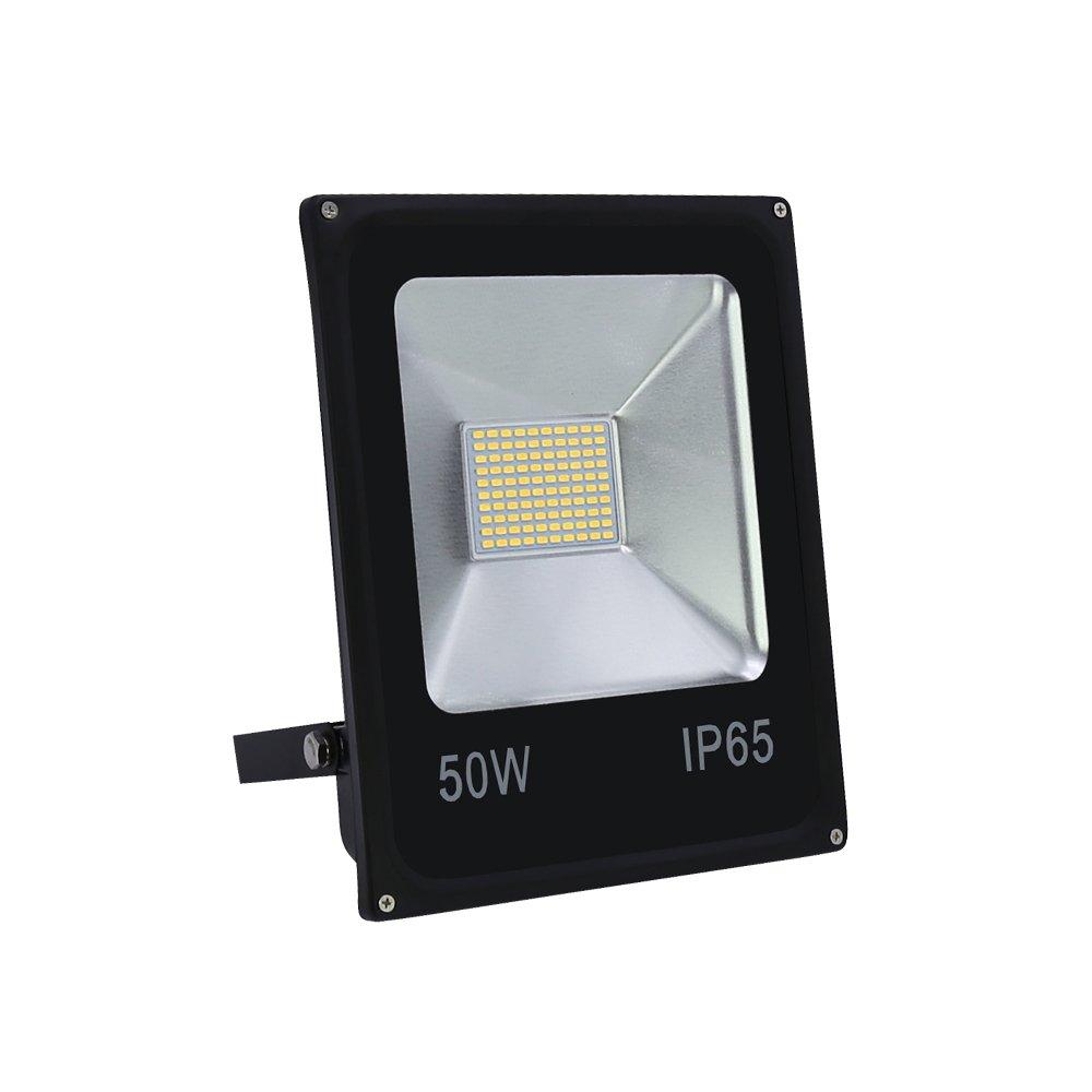 VINGO 50W Smd LED Fluter Außen Flutlicht Strahler Scheinwerfer IP65 Warmweiß [Energieklasse A++] fsders B-1-HG4245