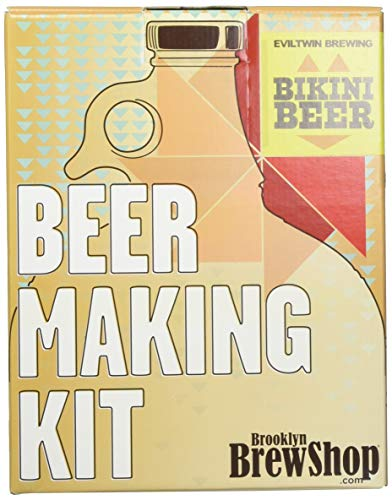 Brooklyn Brew Shop/Evil Twin Bikini Beer Making Kit: All-Grain Set With Reusable Glass Fermenter, Brew Equipment, Ingredients (Malted Barley, Hops, Yeast) - Perfect to Brew Craft Beer At Home