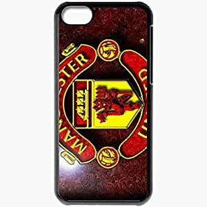 Personalized iPhone 5C Cell phone Case/Cover Skin Logos Manchester United Football Black