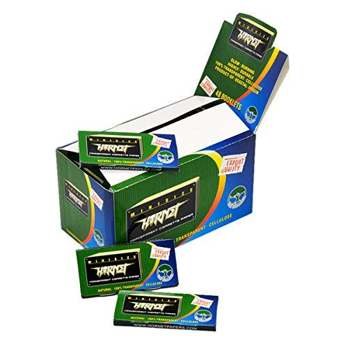 Hornet 48 Packs Transparent Slow Burning Cigarette Rolling Paper,78MM*36MM,50 Papers per Pack(Total 2400 Papers)