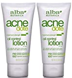 Alba Botanica ACNEdote Oil Control Lotion, 2 Ounces Tube (Pack of 2)