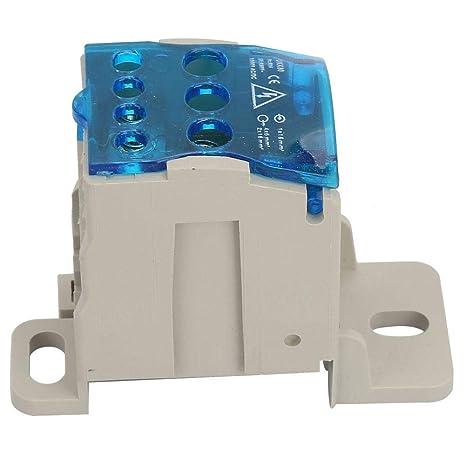 connecteur de fil /électrique bo/îte de jonction de puissance universelle bo/îte de distribution de bornier sur rail DIN Bo/îte de distribution de bloc 80A