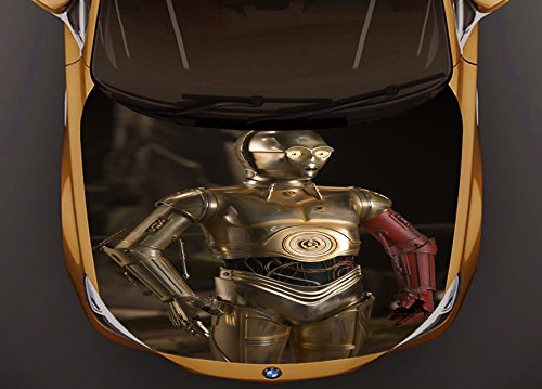 Star Wars, C-3PO Full Color Car Hood Vinyl, Car Vinyl Graphics gc 1057