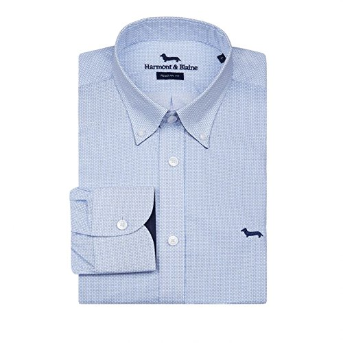 purchase cheap 9bc44 1884c Harmont & Blaine Camicia Celeste 4XL: Amazon.it: Abbigliamento