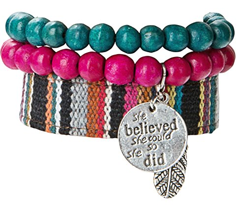 Believed Could Bracelet Boho Tribal