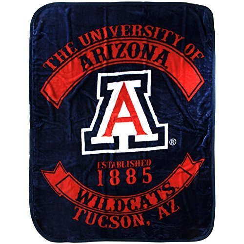 The Northwest Company Officially Licensed NCAA Arizona Wildcats Rebel Plush Raschel Throw Blanket, 60