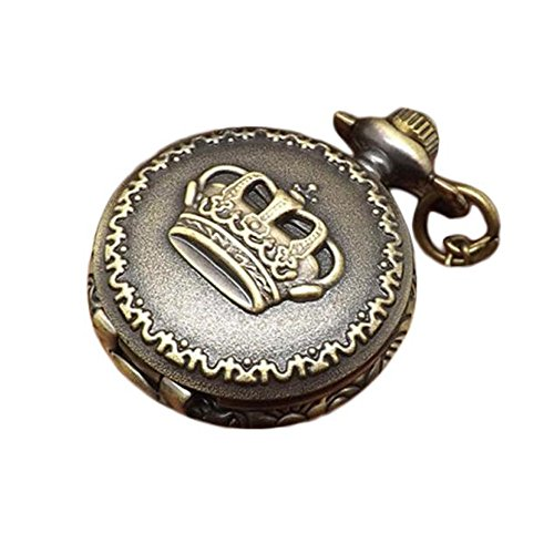 Classic Pocket Watch, Doinshop Vintage Retro Bronze Quartz Watch Pendant Necklace - Pocket Watch Crown