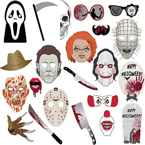 Props For Halloween Party (Kaever Halloween Photo Booth Props - Creepy Zombie/Vampire/Trick or Treat Party Supplies Decorations 22)