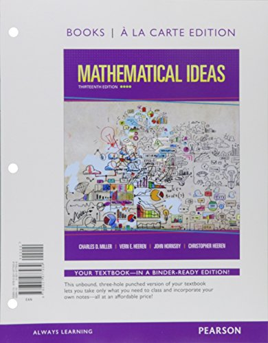 Mathematical Ideas with Integrated Review, Books a la carte Edition, plus MyLab Math Student Access Card and Sticker
