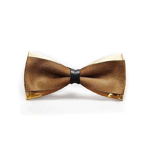 YXN Corbata de Lazo Doble de los Hombres de Oro Rojo 6 cm (Color ...