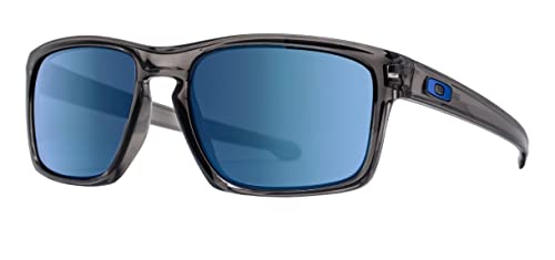 Image Unavailable. Image not available for. Colour  Oakley Silver  OO9262-5057 Polished Grey Smoke Ice Iridium Blue Square Sunglasses 22a7eb37a2