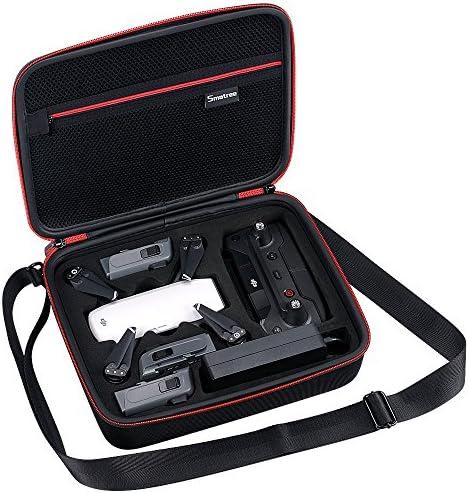 Smatree Étui de transport léger pour DJI Spark, adapté pour batterie Spark, télécommande, adaptateur de chargeur de batterie