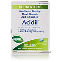 Boiron Acidil, 60 Tablets, Homeopathic Medicine for Indigestion
