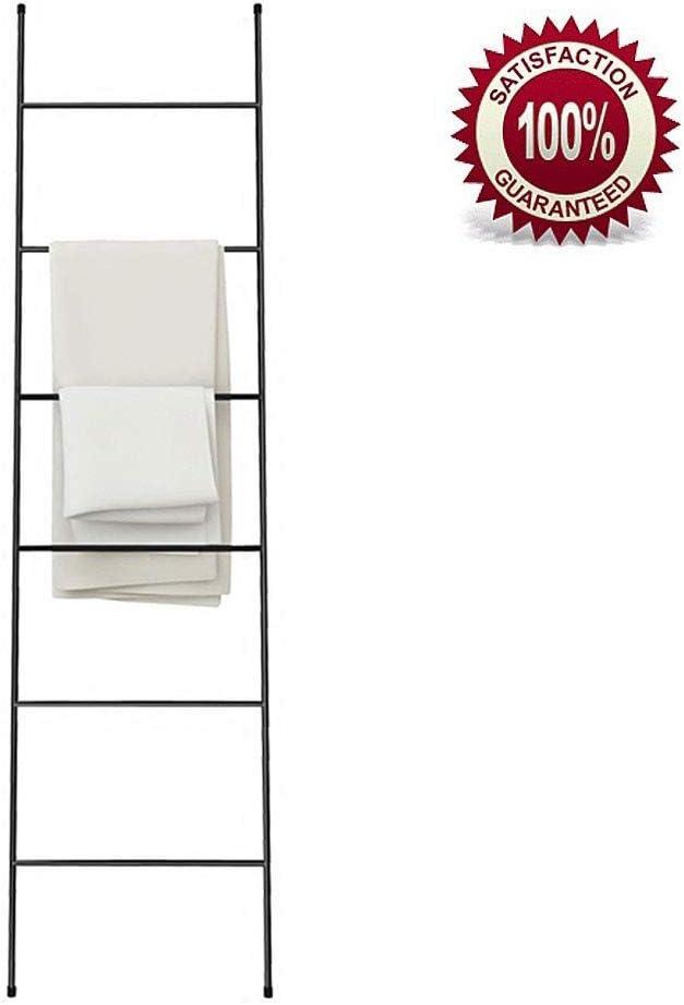 Escalera Decorativa Blanca Pequeña, Metal Inoxidable, con 6 Barras, sin Taladro, Práctico Escalera Toallero de Pie Ligeroblack: Amazon.es: Hogar