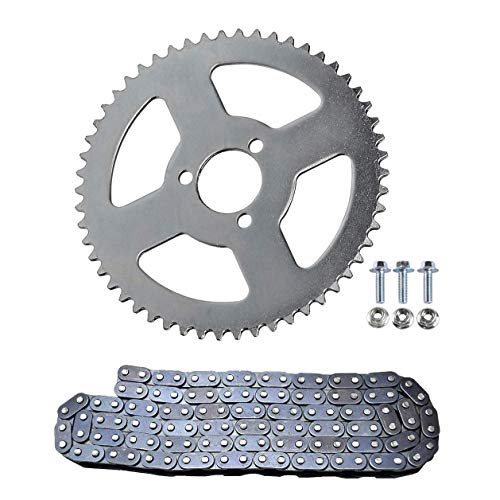 (WPHMOTO 116 Links T8F Chain & 54T T8F Rear Chain Sprocket Kit For Mini Pit Pocket Dirt Bikes ATV Quad)