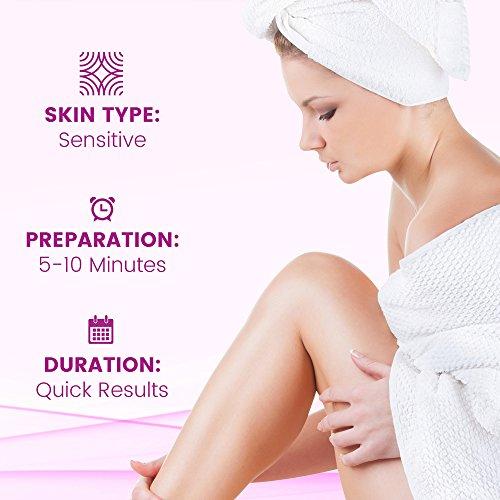 41AxSx1UCoL Veet Botanic Inspirations In Shower Cream, 13.5 fl Oz., for Bikini, Underarm, Face