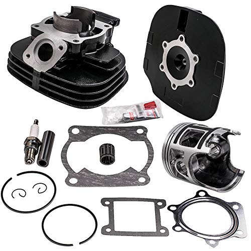 (Cylinder Head Piston Gasket Top End Kit Set for Yamaha Blaster 200 YFS 200)