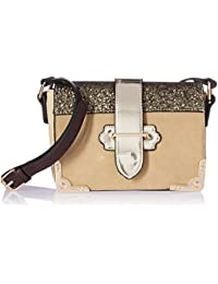 Women's Sequins Design Crossbody Shoulder Bag, Beige, One Size
