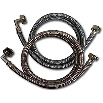 eastman 48377 washing machine hose with 90 degree elbow 1 pair eastman home. Black Bedroom Furniture Sets. Home Design Ideas