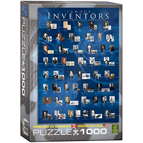 EuroGraphics Famous Inventors 1000 Piece Puzzle (Benjamin Franklin Date Of Birth And Death)