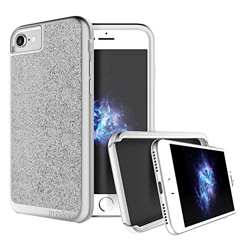 "Prodigee [ Sparkle resplandecer rutilar brillar centellear chispear destellar] Silver for iPhone 7 (2016) 4.7"" Cell Phone Case Cas, de protection flexible, durable, absorption des chocs, étui de prote"