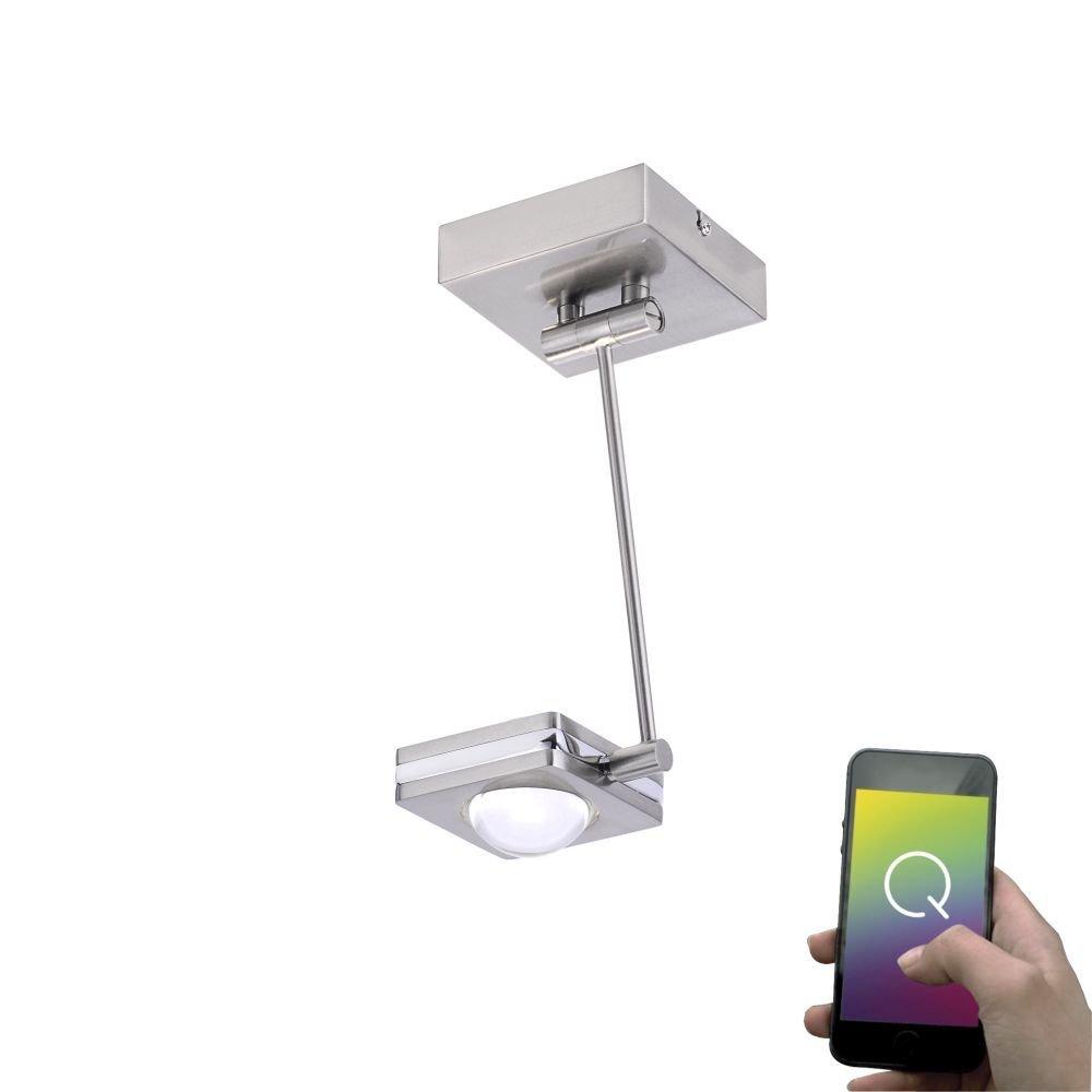 Paul Neuhaus 6461-55 Q-Fisheye LED Deckenleuchte RGBW Lichtfarbwechsel dimmbar inkl. Fernbedienung Smart-Home Alexa fähig